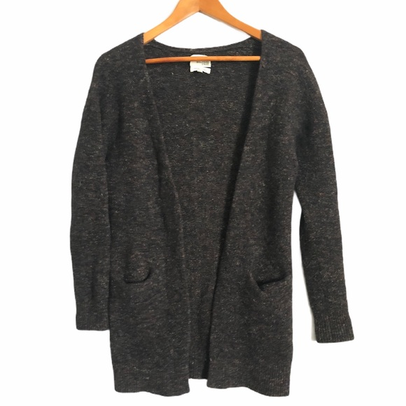 Wilfred Free Wool/Linen Open Cardigan Grey Small